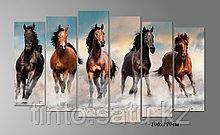 """Модульная картина """"Скачущие кони"""""""