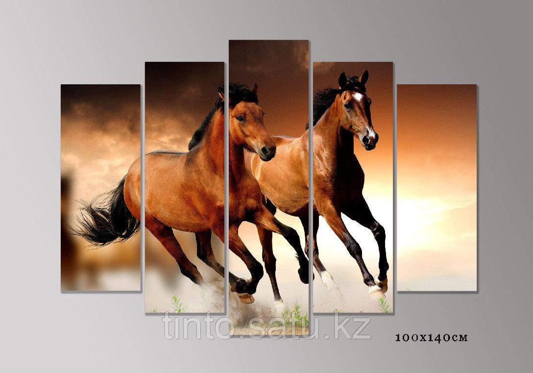 "Модульная картина ""Пара лошадей"""
