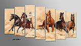 """Модульная картина """"Скачущие кони"""", фото 2"""
