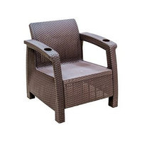 Кресло 'Ротанг', 73 x 70 x 79 см, без подушки, цвет шоколад