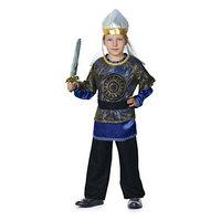 Карнавальный костюм 'Богатырь Добрыня Никитич', р. 28, рост 98-104 см, цвет синий