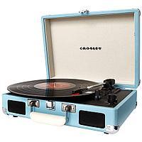 Проигрыватель виниловых дисков CROSLEY CRUISER DELUXE Turquoise c Bluetooth CR8005D-TU