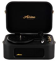 Проигрыватель виниловых дисков Alive Audio STORIES Glam Noir c Bluetooth STR-06-GN