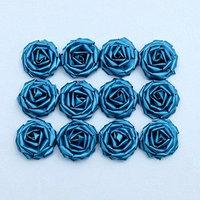 Набор роз для украшения свадебных машин, D5 см,12 шт, бирюза