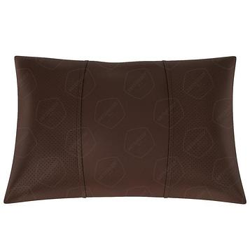 Подушка автомобильная, поясничный подпор, экокожа, шоколадная
