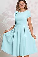 Женское летнее голубое платье Vittoria Queen 14003/4 голубой 44р.