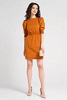 Женское летнее хлопковое оранжевое платье Панда 45887z терракотовый 42р.