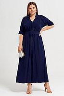 Женское летнее из вискозы синее платье Панда 37880z синий 50р.