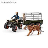 Набор фигурок «Квадроцикл с прицепом для перевозки животных»