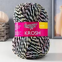 Пряжа Krosh (Крош) акрил 100% 110м/50 гр цв.черн.-мул (1403)
