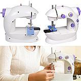 Портативная мини швейная машинка. Mini sewing machine., фото 7