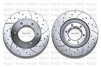 Тормозные диски Gerat DSK-F044W (ПЕРЕДНИЕ) Toyota Land Cruiser Prado 90, 95, Surf, 4runner III пок. 185