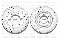 Тормозные диски Gerat DSK-F044P (ПЕРЕДНИЕ) Toyota Land Cruiser Prado 90, 95, Surf, 4runner III пок. 185
