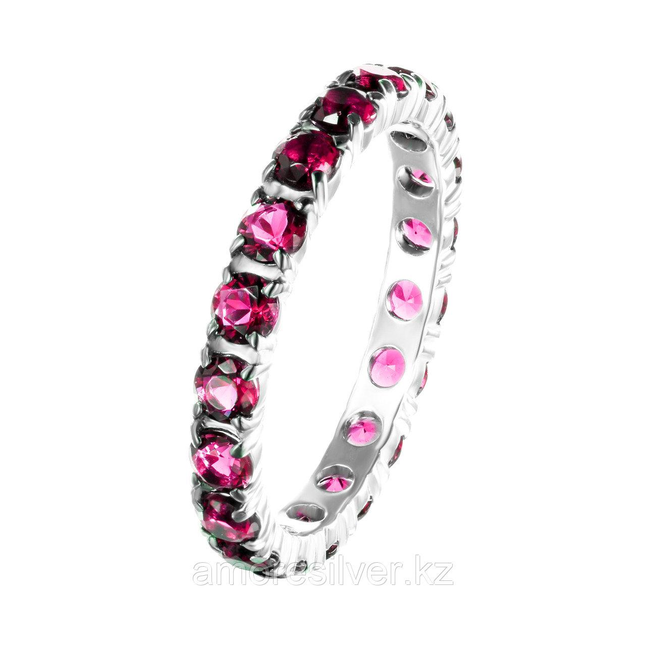 Кольцо TEOSA серебро с родием, рубин синт. 10119-604-RBZ размеры - 17