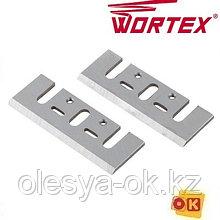 Нож для рубанка 82 мм WORTEX затачиваемый (2 шт. в упаковке) (PLB820029)