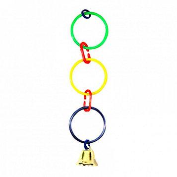 Игрушка для попугая Кольца с колокольчиком