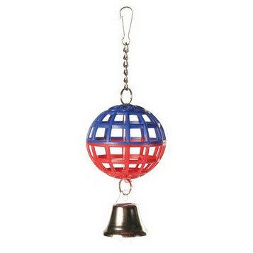 Игрушка для птиц Trixie шарик с колокольчиком