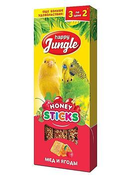Happy Jungle Медовые палочки для попугаев Мёд и ягоды