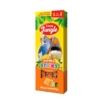 Happy Jungle Медовые палочки для попугаев Мёд и фрукты