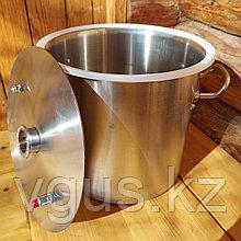 Перегонный куб 12 литров с крышкой , прокладкой и хомутом в комплекте.
