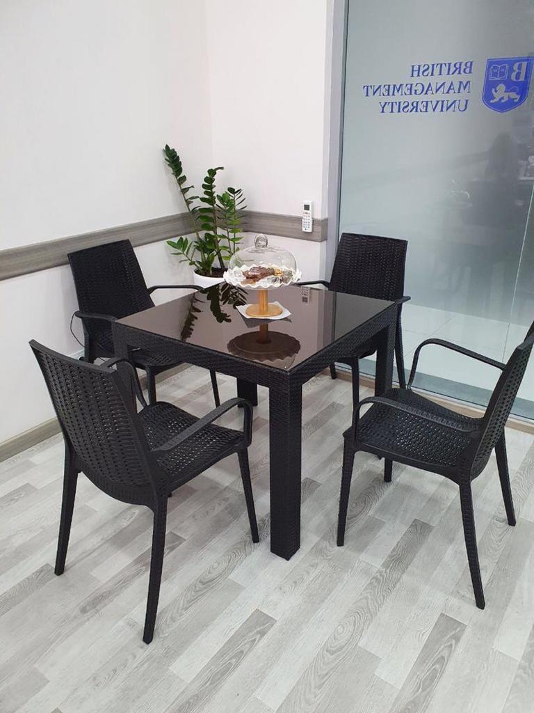 Набор садовой мебели кресла, стол пластиковые под ротанг, цвет коричневый - фото 2
