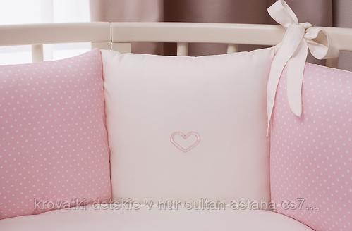 Комплект в кроватку Perina Неженка Oval 7 предметов НО7.3-125х75 Розовый - фото 2