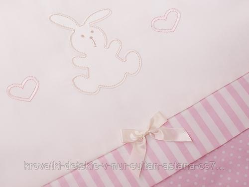 Комплект в кроватку Perina Неженка Oval 7 предметов НО7.3-125х75 Розовый - фото 3