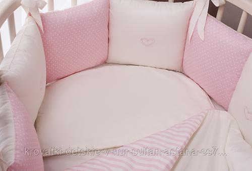 Комплект в кроватку Perina Неженка Oval 7 предметов НО7.3-125х75 Розовый - фото 5