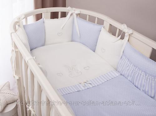Комплект в кроватку Perina Неженка Oval 7 предметов НО7.4-125х75 Голубой - фото 1