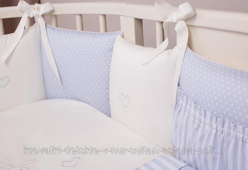 Комплект в кроватку Perina Неженка Oval 7 предметов НО7.4-125х75 Голубой - фото 4