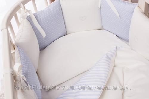Комплект в кроватку Perina Неженка Oval 7 предметов НО7.4-125х75 Голубой - фото 5