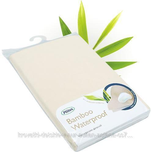 Наматрасник непромакаемый Plitex Bamboo Waterproof Comfort с резинками на углах - фото 1
