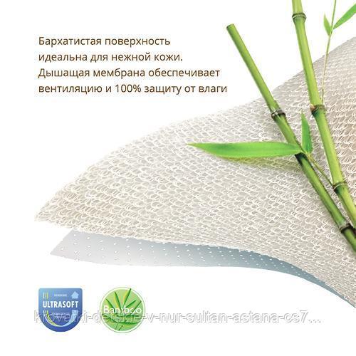 Наматрасник непромакаемый Plitex Bamboo Waterproof Comfort с резинками на углах - фото 2