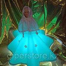 Светильник-кукла ручной работы.