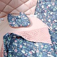 Комплекты в кроватку со стегаными бортиками