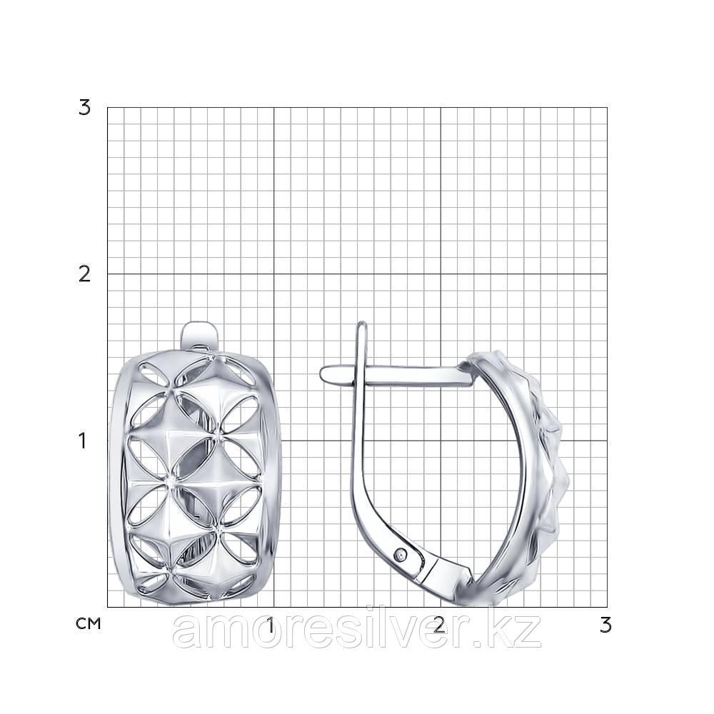 Серьги SOKOLOV серебро с родием, геометрия 94022394