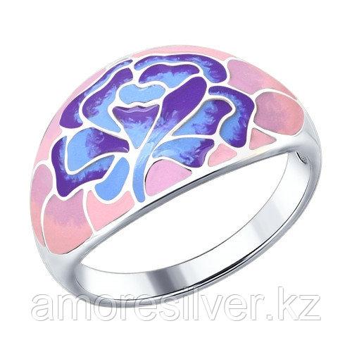 Кольцо SOKOLOV серебро с родием, флора 94012268