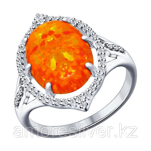 Кольцо SOKOLOV серебро с родием, фианит 83010014