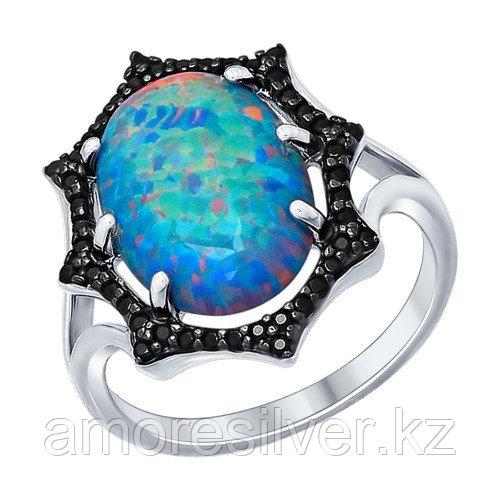 Кольцо SOKOLOV серебро с родием, опал фианит 83010005