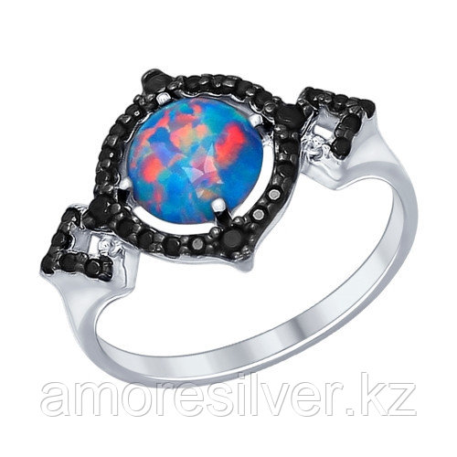 Кольцо SOKOLOV серебро с родием, фианит 83010001