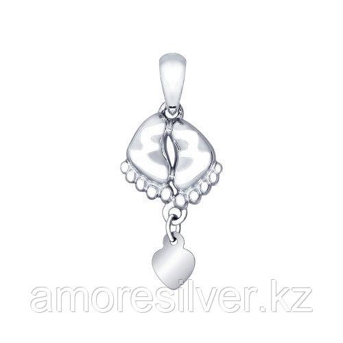Подвеска SOKOLOV серебро с родием, символы 94031914