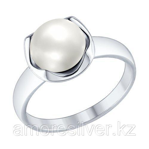 Кольцо SOKOLOV серебро с родием, жемчуг пресноводный 94012361