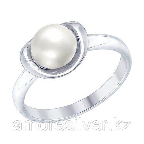 Кольцо SOKOLOV серебро с родием, жемчуг пресноводный 94012366