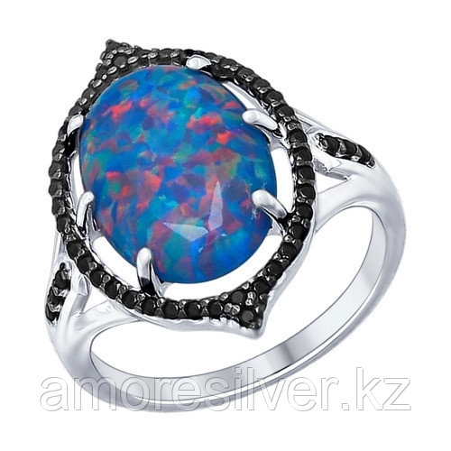 Кольцо SOKOLOV серебро с родием, фианит 83010006