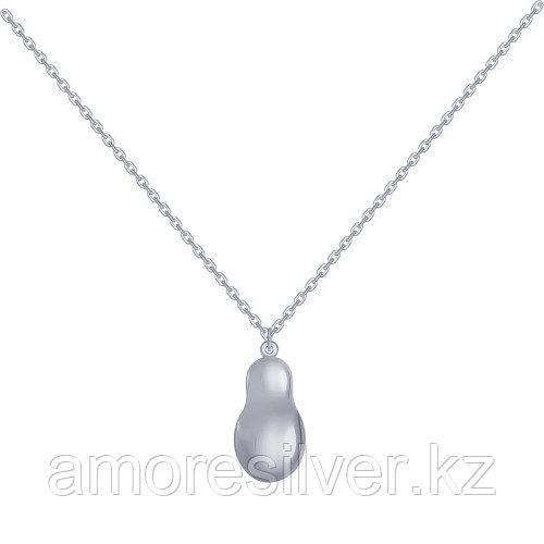 Колье SOKOLOV серебро с родием, без вставок 94070078