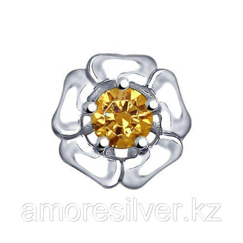 Подвеска SOKOLOV серебро с родием, фианит, флора 94031976