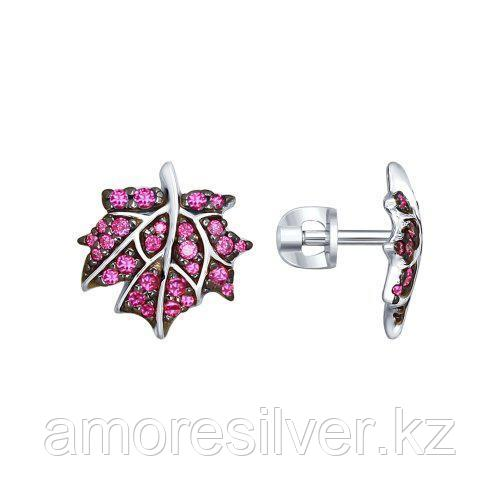 Серьги SOKOLOV серебро с родием, фианит 94022513