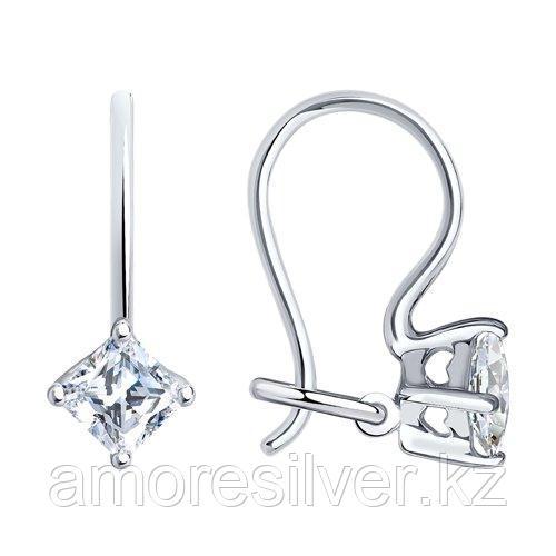 Серьги SOKOLOV серебро с родием, фианит  94020581