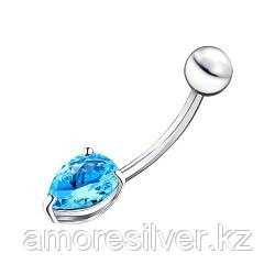 Пирсинг SOKOLOV серебро с родием, фианит  94060068