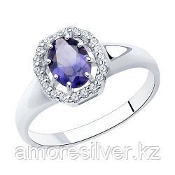 Кольцо SOKOLOV серебро с родием, фианит  иолит 92011993 размеры - 17